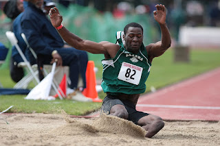 David won the NCAA Division II national championship in long jump as a sophomore. (Photo by Kelley L Cox)