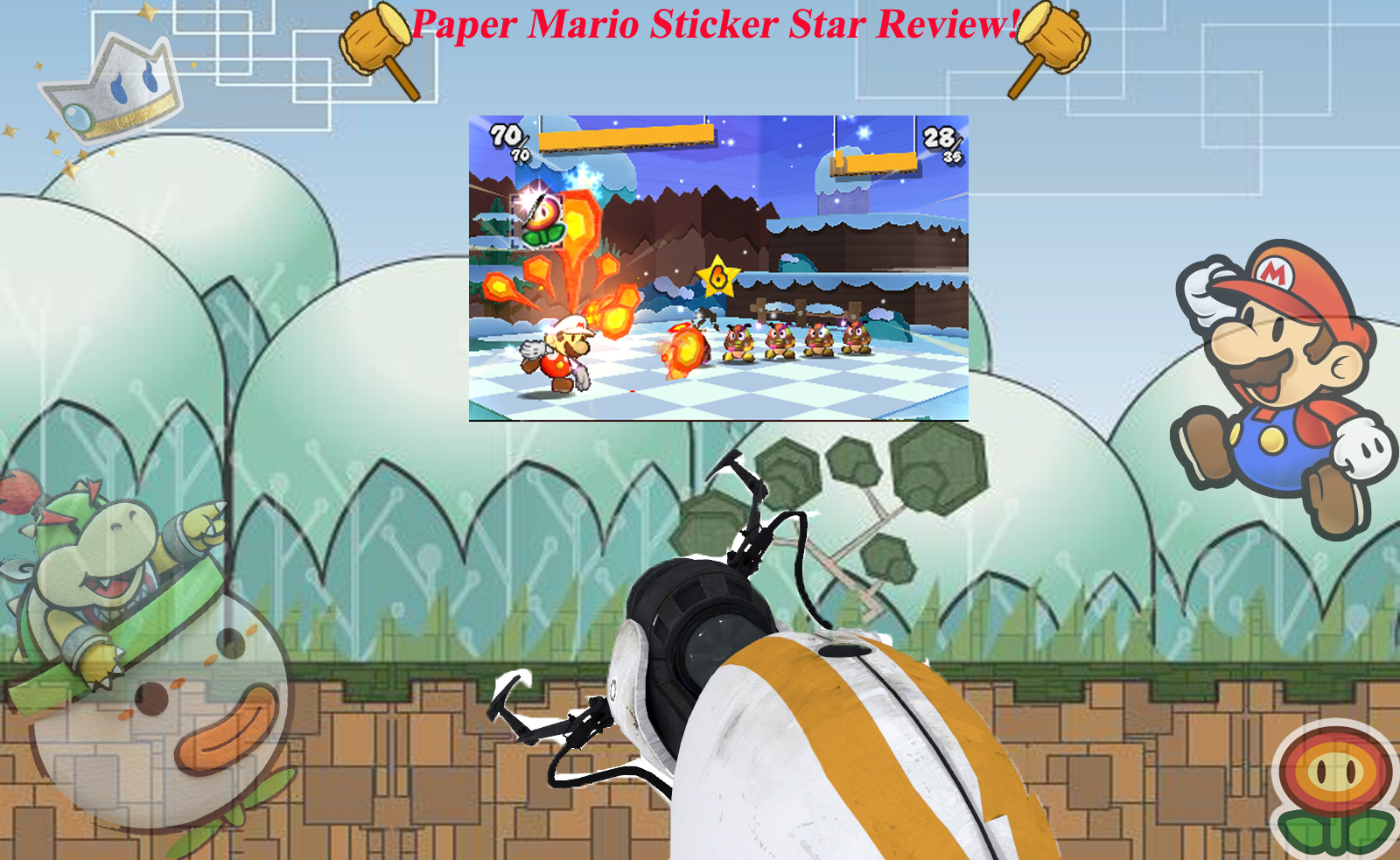 paper mario sticker star help Paper mario: sticker star is the latest installment of the legendary paper mario series, and the first on a portable system like its predecessors, it maintains the simplistic paper style of the landscape and characters.