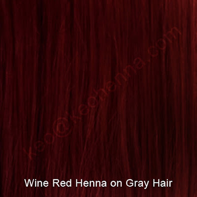 Wine Red Henna On Gray Hair