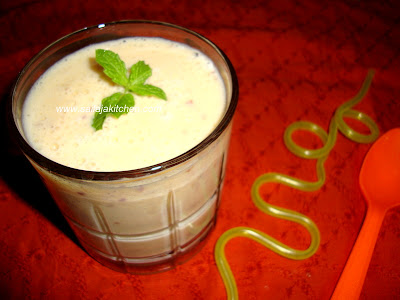 Peach Milkshake recipe - A Quick & Easy Milkshake recipe