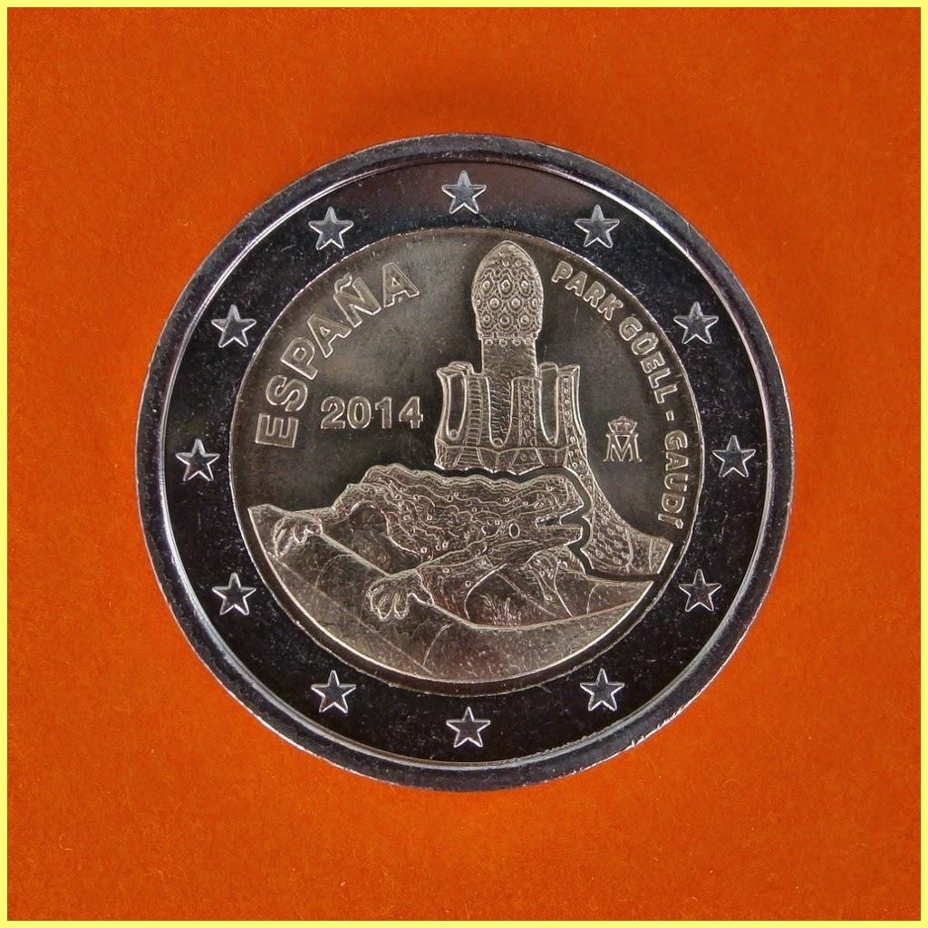Moneda 2 Euros España 2014 Parque Güell