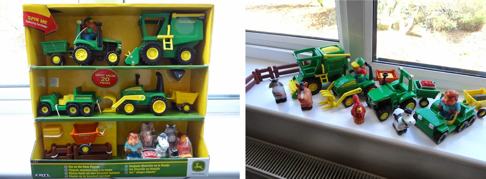 John Deere toys, TOMY John Deere pre-school range, farm toys