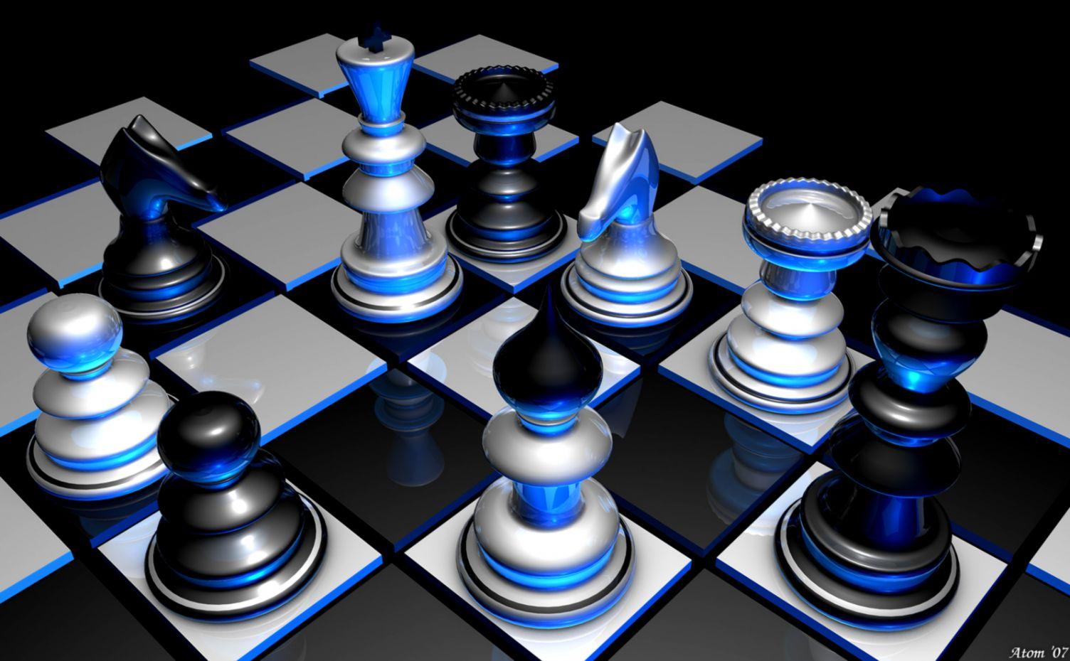 3D Wallpaper Chess Background