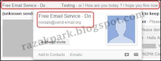 Cara mengirim anonymous email