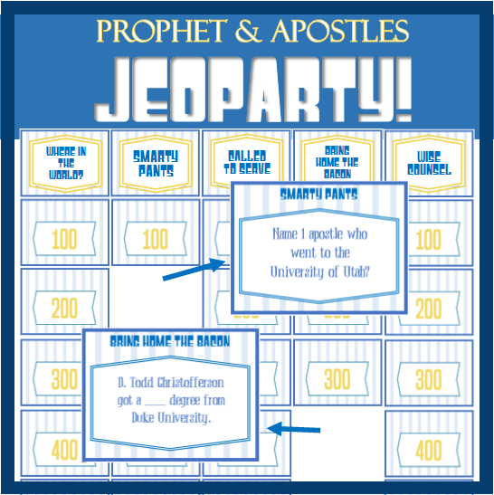 Prophet & Apostle Jeoparty