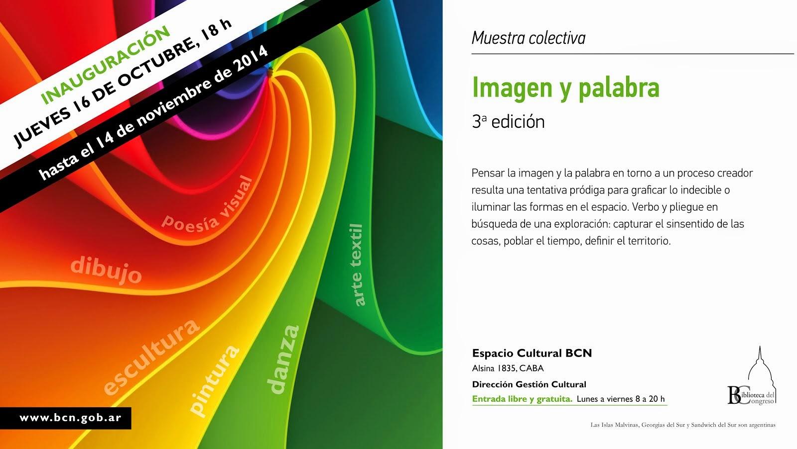 Imagen y Palabra. BCNA. 2014.