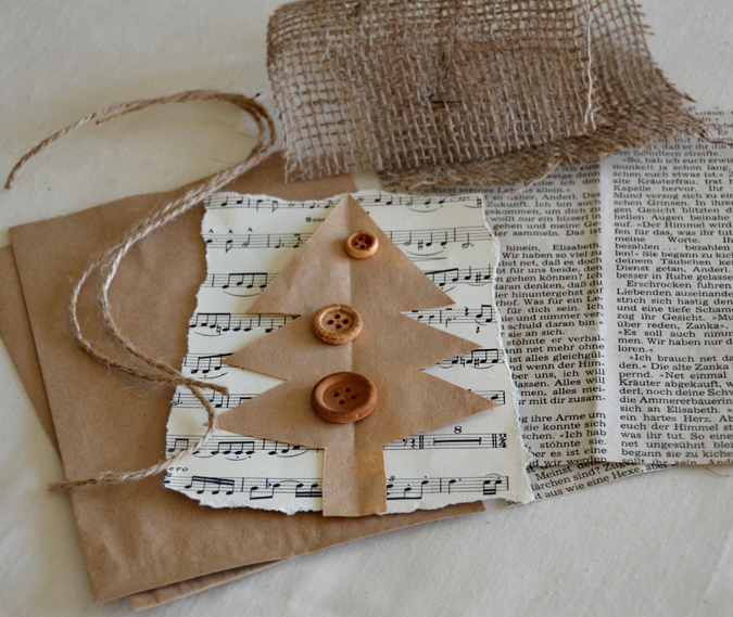 Her creative spirit christmas gift bag tutorial - Como hacer tarjetas de navidad ...