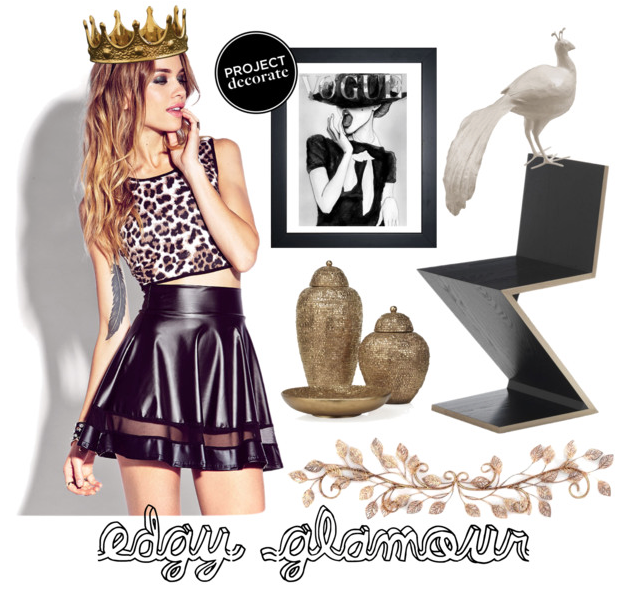 Edgy glamour collage by @faitboum for Polyvore. #ProjectDecorate