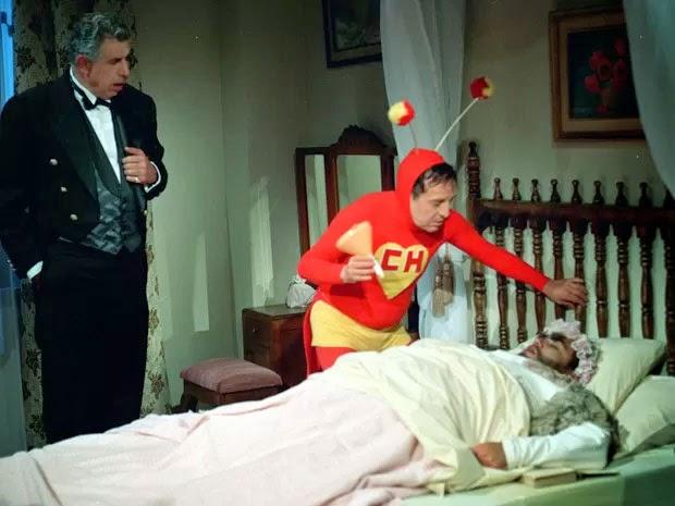 Rubén Aguirre contrancena com Roberto Bolaños em episódio de 'Chapolin'