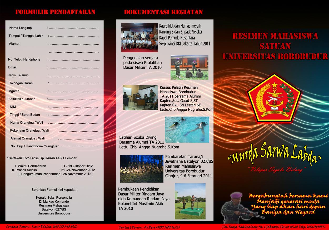 Pembukaan Pendaftaran Anggota Baru Menwa Universitas Borobudur