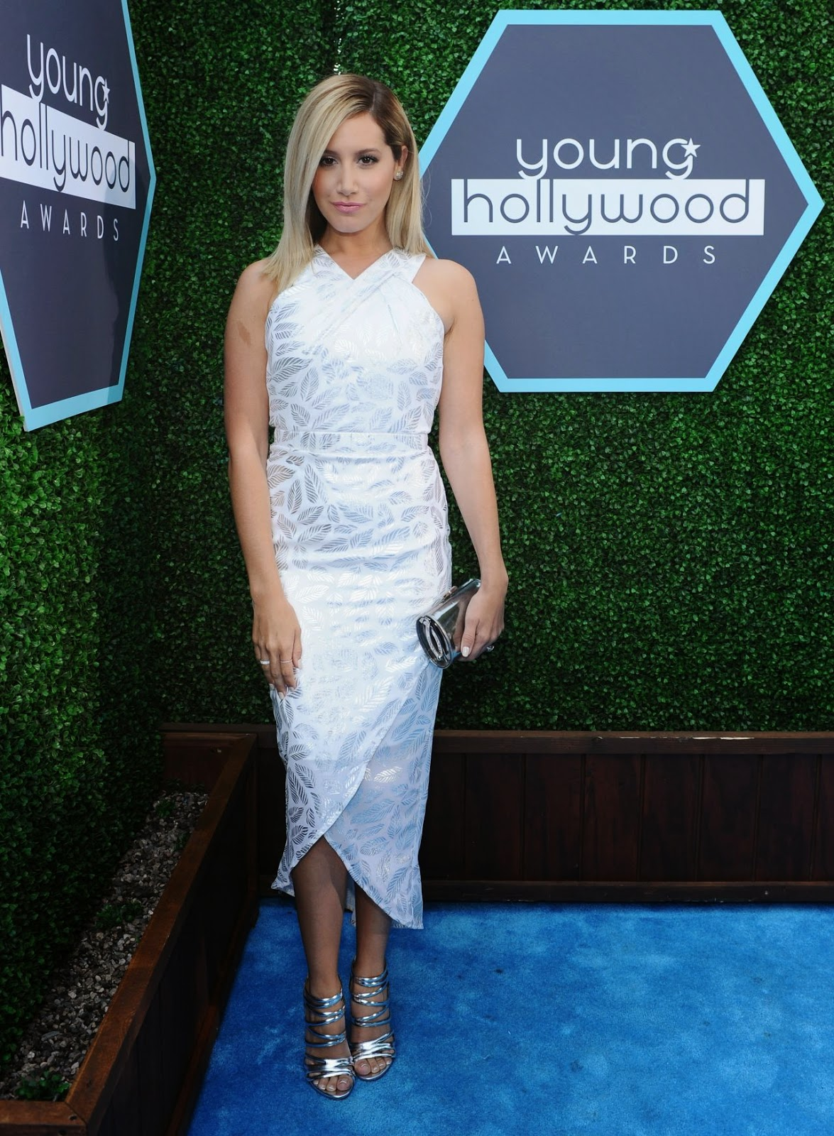 Ashley Tisdale in a halter dress at the 2014 Young Hollywood Awards