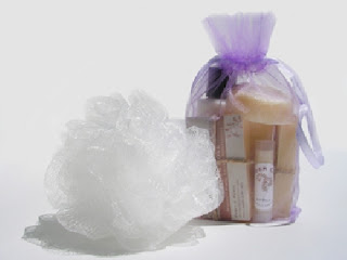 Lavender Gift Bag with Raspberry Lip Balm By EmberCove