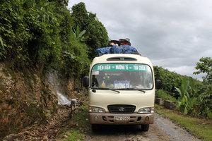 Our bus from Điện Biên to Mường Tè