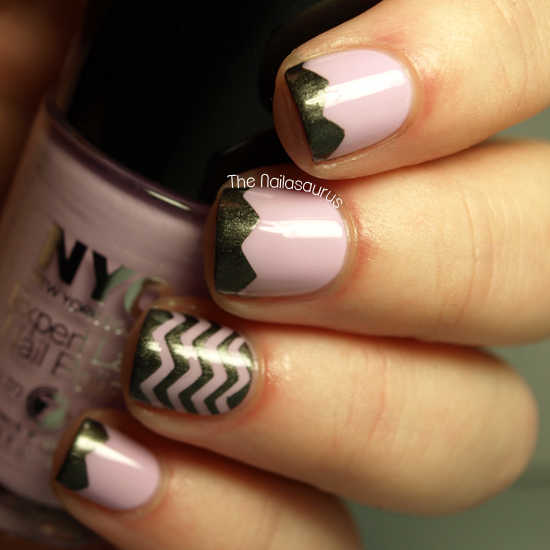 Step By Step Nail Art Using Tape