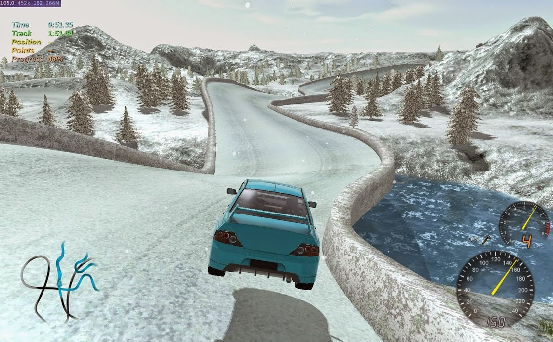 Stunt Rally :  open source car racing game