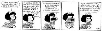 Tirinhas da Mafalda: reflexões sobre Escola, ensino e alfabetização...