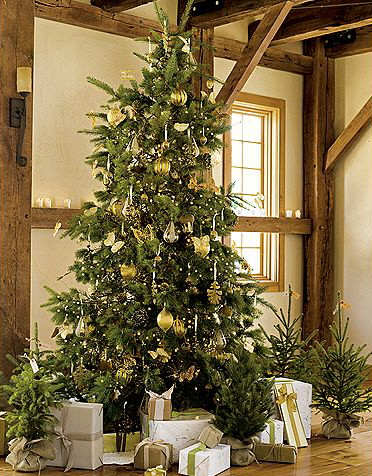 Christmas Holiday Tree Theme Green Idea Decoration Rustic Tinsel
