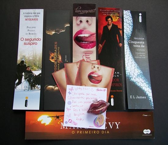 Kit de mimos que ganhei do blog Artesã Literária