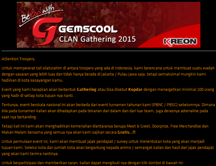 Gemscool Point Blank CLAN Gathering 2015