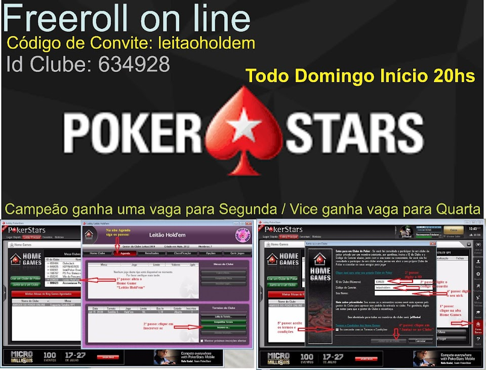 FREEROLL ONLINE NO POKERSTARS