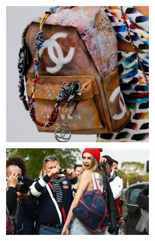Mochilla desgastada Chanel tendencias complementos y accesorios primavera verano 2014