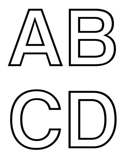 Dibujos y Plantillas para imprimir: Abecedario letras para imprimir 01