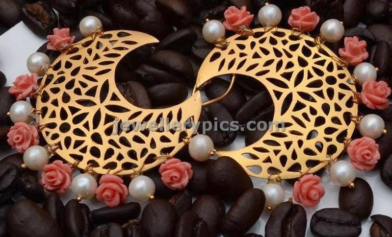 gold chanbali hoop earrings