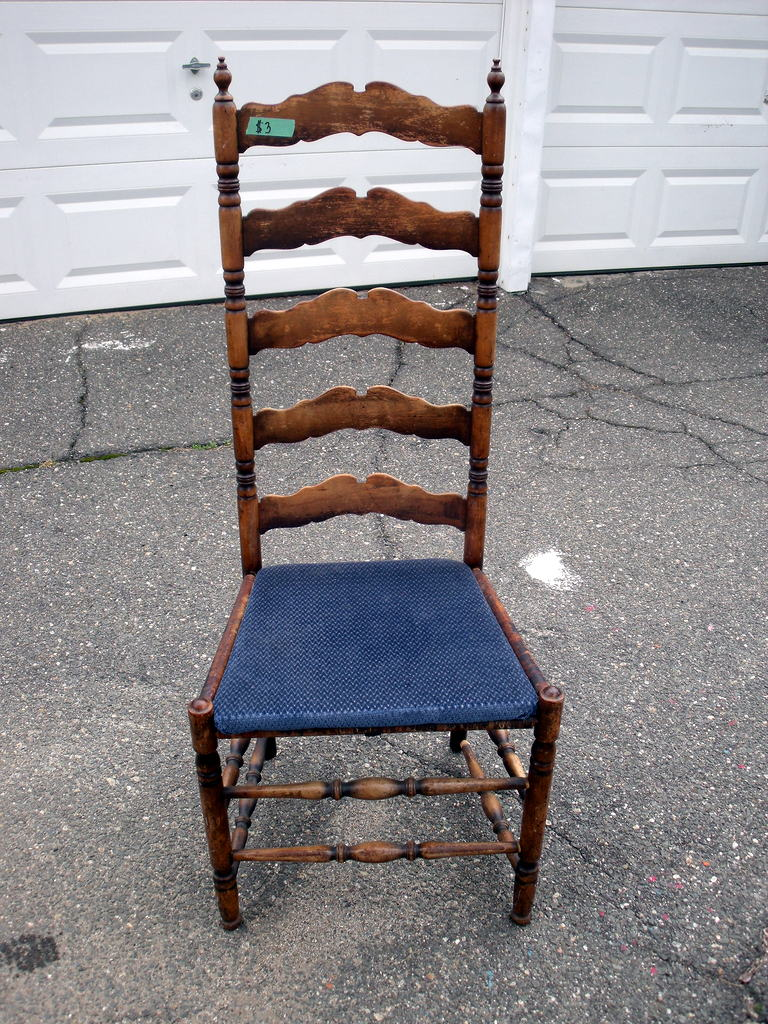 Quick Antique Ladder Back Chair Makeover - Number Fifty-Three: Quick Antique Ladder Back Chair Makeover