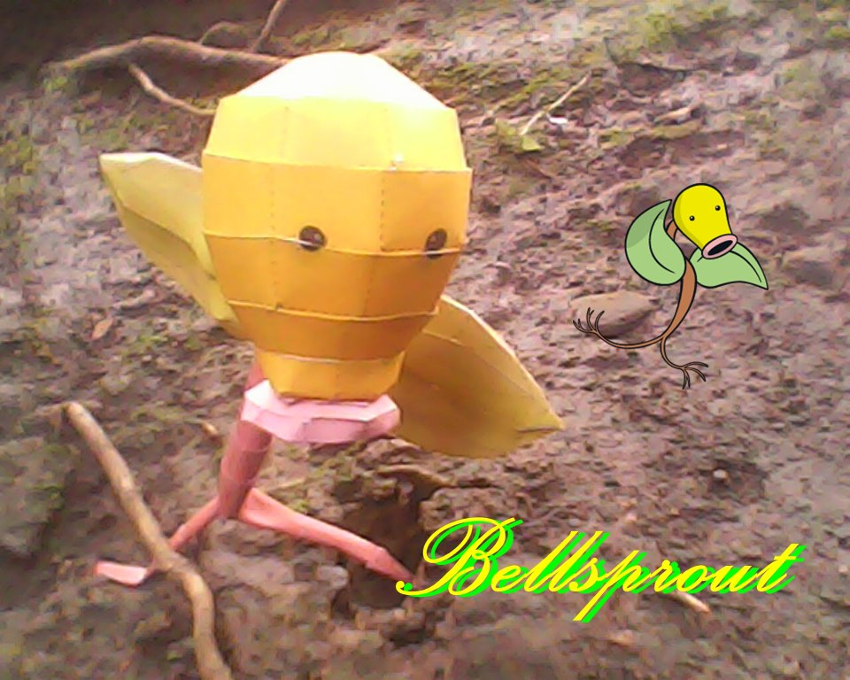 Pokemon Bellsrpout Papercraft
