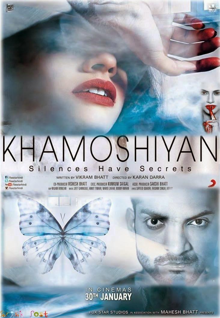Mysterious Sapna Pabbi, Gurmeet and Ali Fazal in Khamoshiyan movie poster