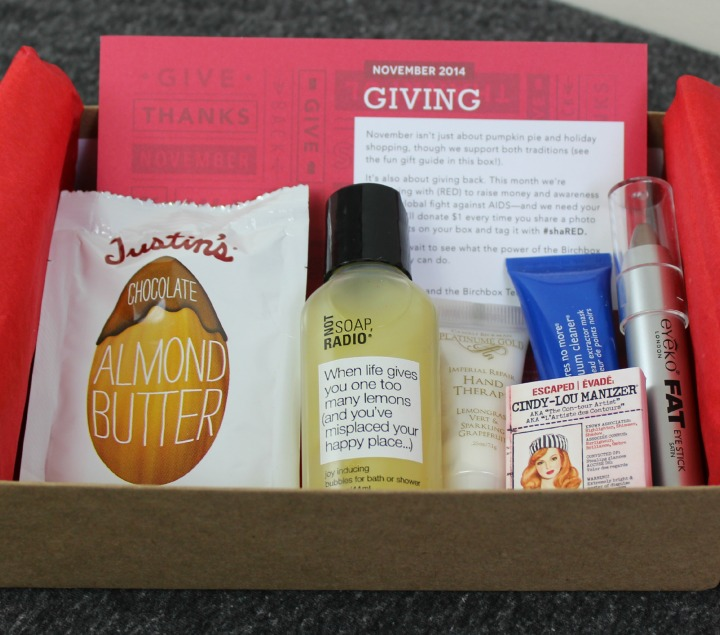 Birchbox November 2014 Review & Unboxing US