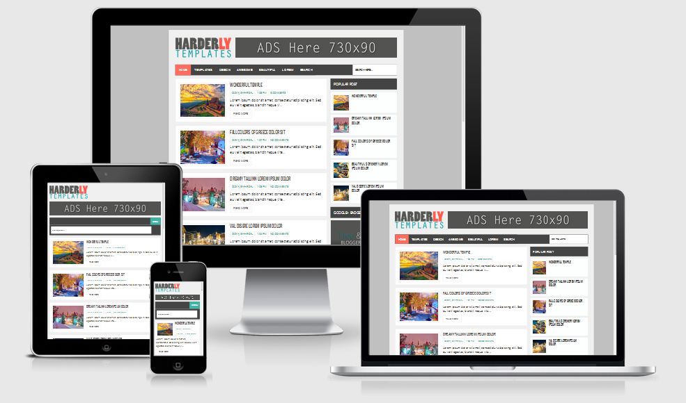 Harderly Responsive Blogger Template
