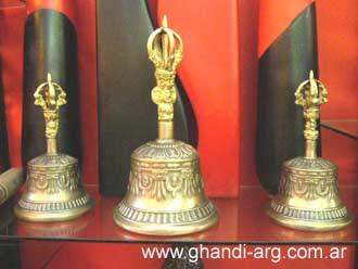 campana tibetana y cuenco