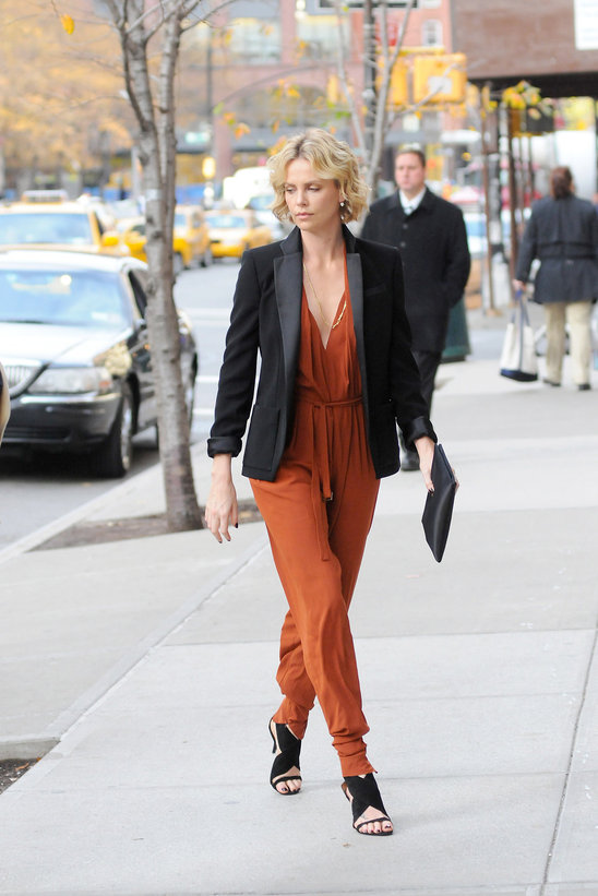 Street Style Celebrities Charlize Theron