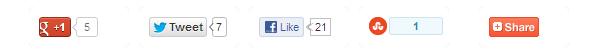 social shar buttons under posts