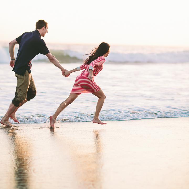 beach engagement photos, Santa Cruz beach, Wedding photographer