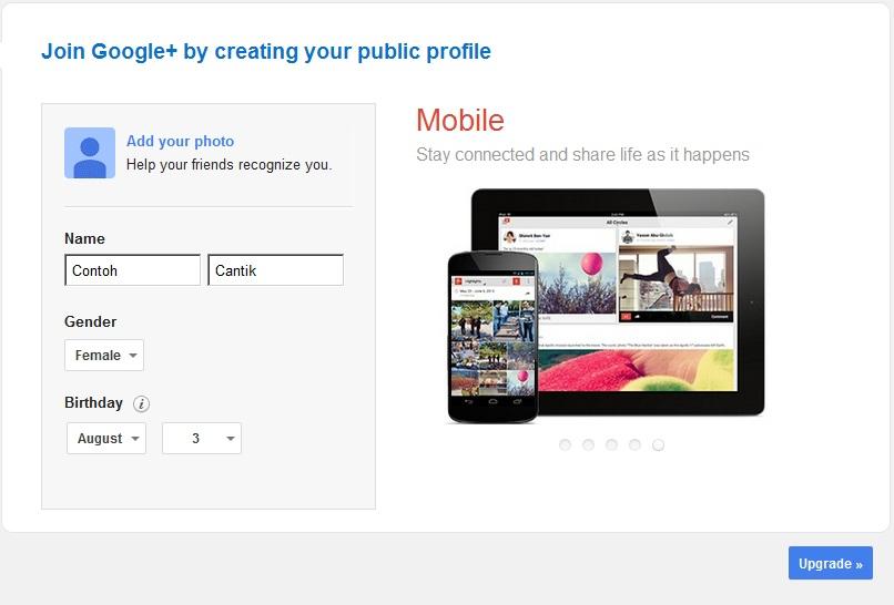 Как создать профиль в гугле