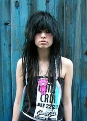 emo fashion hair style