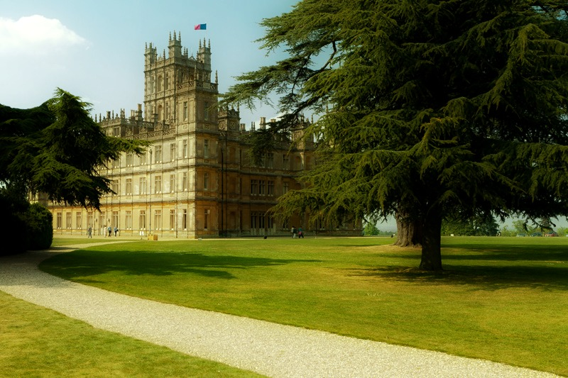 La s rie downton abbey la toile de pandore - Chateau downton abbey ...