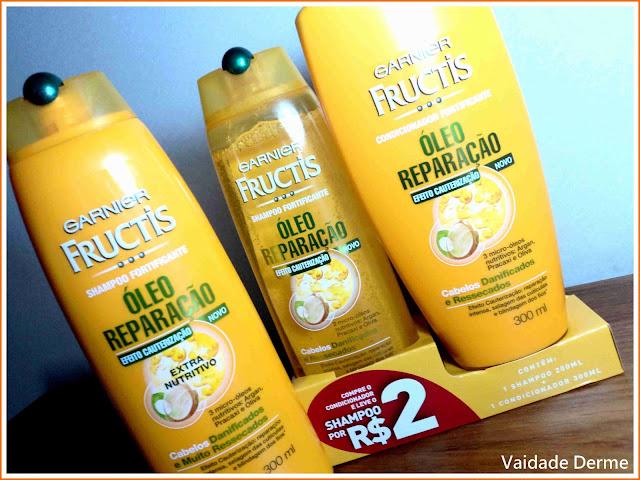 Shampoo e Condicionador Óleo Reparação da Garnier Fructis