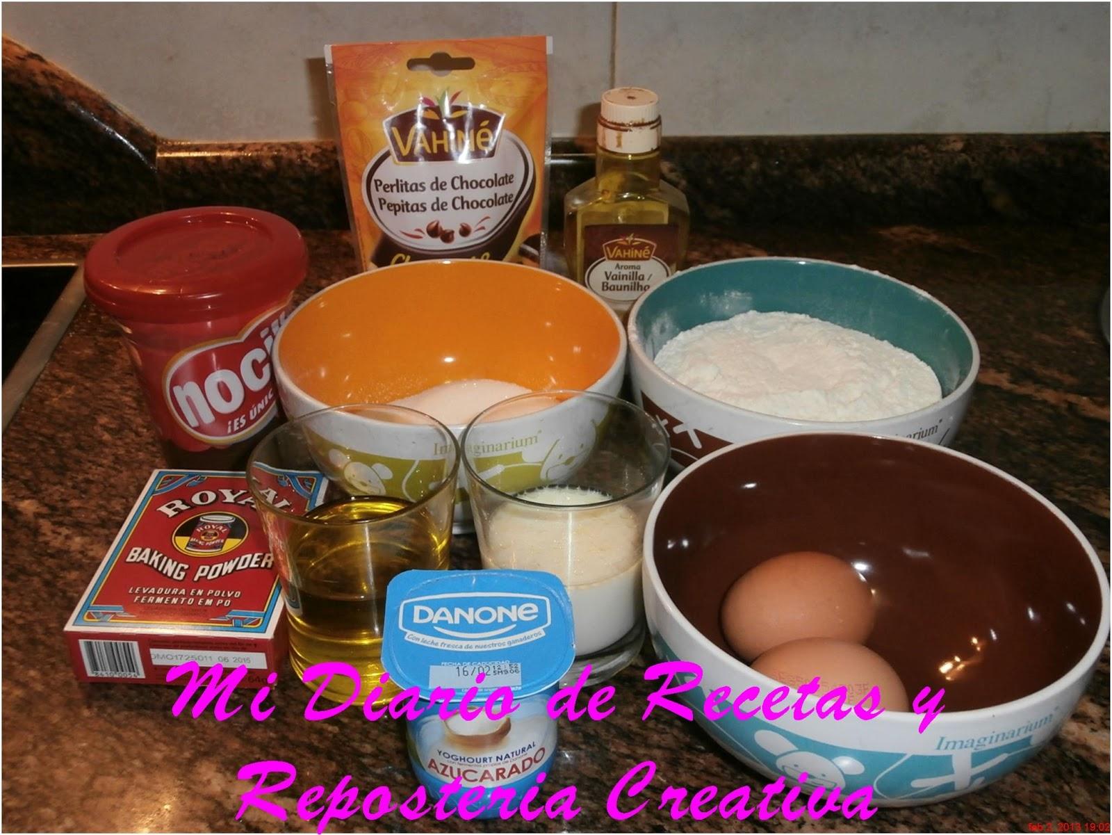 Mi diario de recetas y reposteria creativa muffins de - Ingredientes reposteria creativa ...