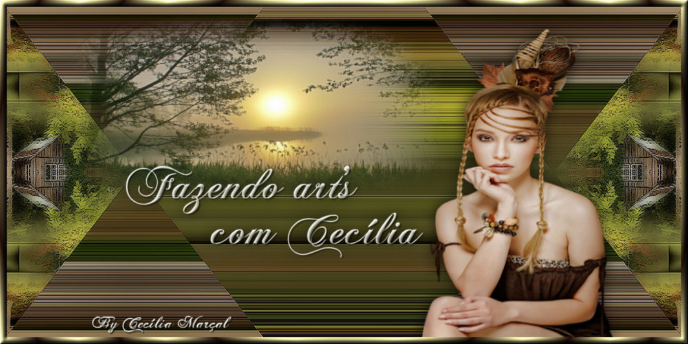 Fazendo Art's com Cecília