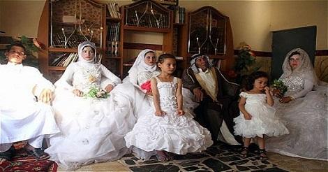 سعودى يتزوج من 4 فى ليلة زفاف واحدة والسبب غريب جدا