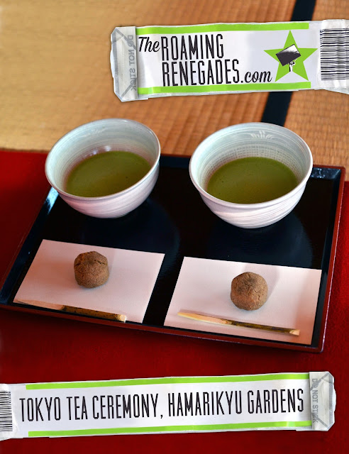 Japan, Tokyo, tea ceremony, on a budget, Hamarikyu gardens, Hama rikyu gardens, matcha, 抹茶, Japanese culture, Zen Buddhism, Atmosphere, informal, cheap, Wagashi, Nakashima tea house, Shioiri pond, shogun,