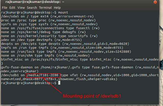 mount USB drive in Linux Mint