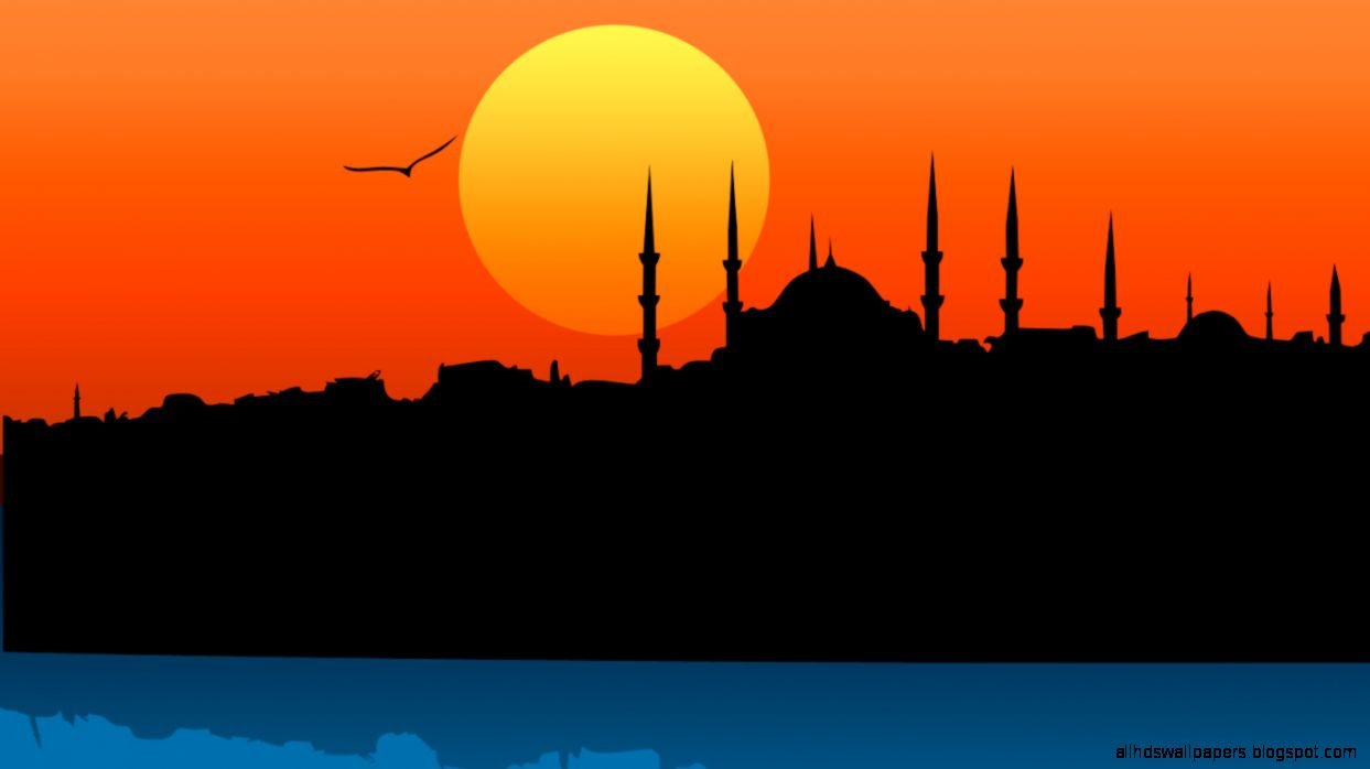Islamic Mosque Wallpaper Hd In Sunset | All HD Wallpapers