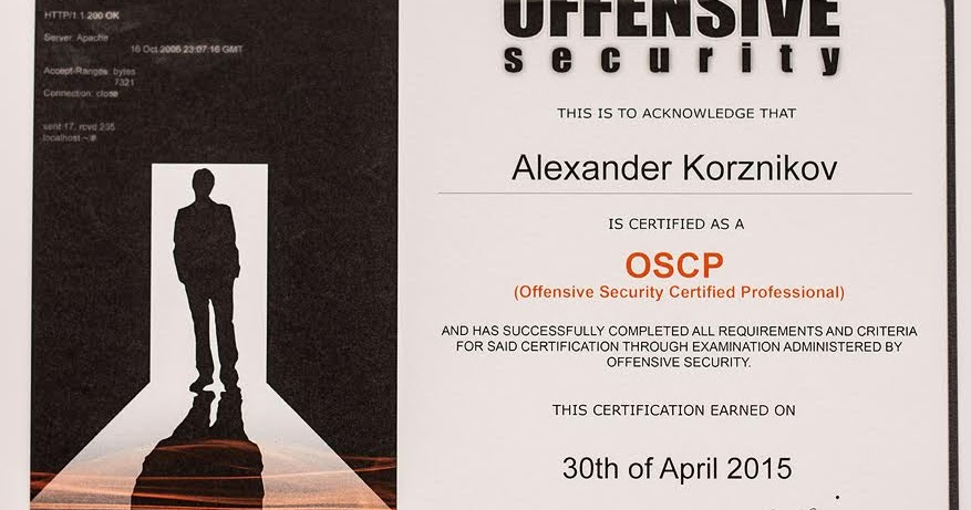 Alexander Korznikov A Bit Of Security Got Oscp