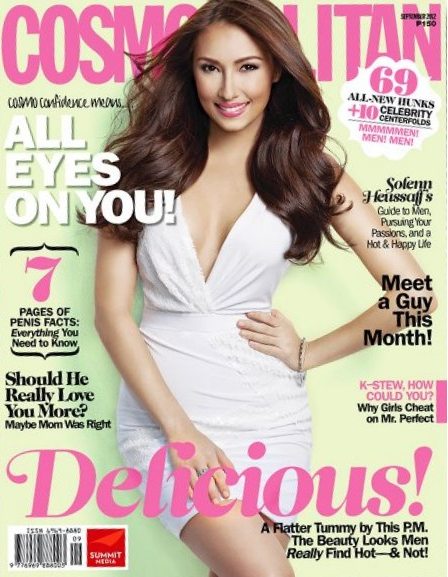 Solenn Heussaff Covers Cosmopolitan September 2012 issue