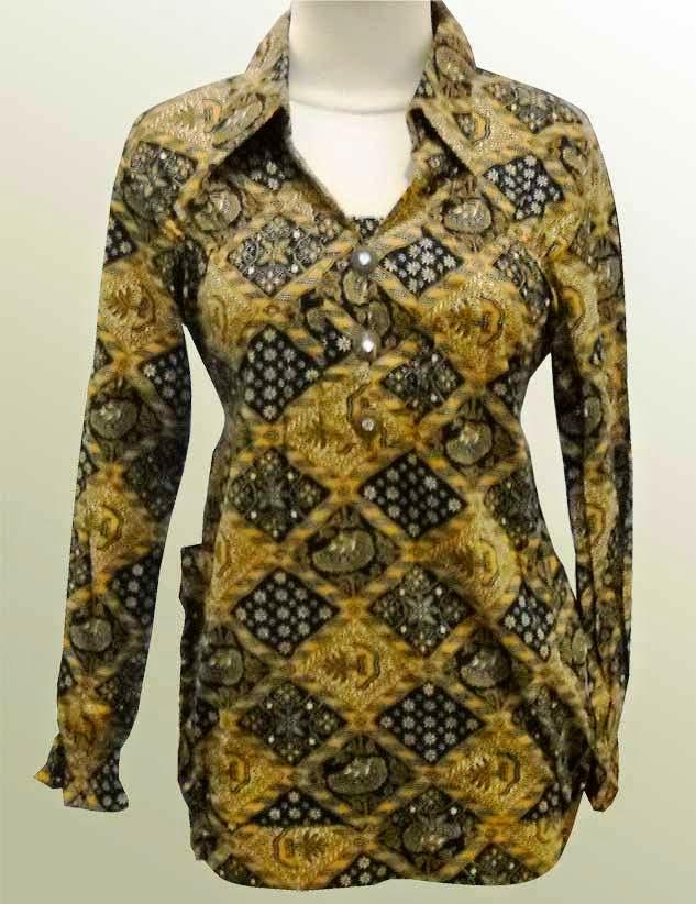 Gambar Model Baju Batik Modern Terbaru 2015