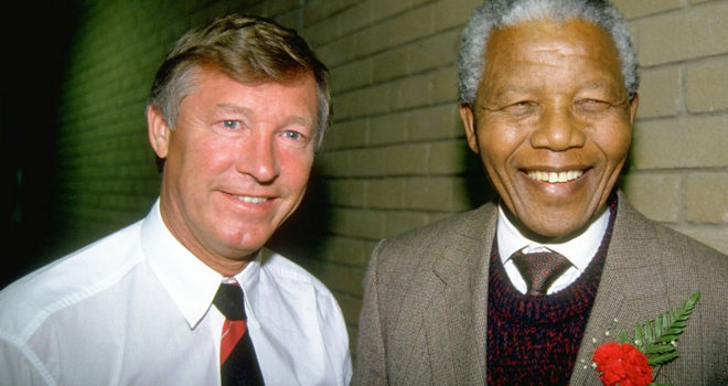 Sir Alex Ferguson Nelson Mandela RIP Nelson Mandela, his life through a football lens [Pictures]